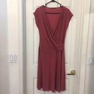 Soprano mock wrap dress